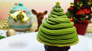 D Christmas Tree Cake - christmas tree matcha mont blanc recipe christmas countdown d