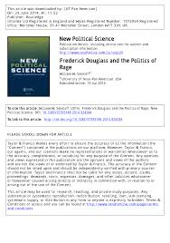 frederick douglass and the politics of rage pdf download available