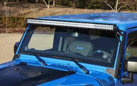 jeep jk hood led light bar 2007 current wrangler jk roof light bar mount for 50 led light bar