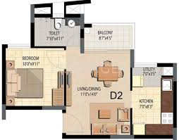 600 sq ft 600 sq ft 1 bhk 1t apartment for sale in prestige group bella