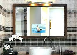 tv in the mirror bathroom built in tv mirror bathroom mirrors pa sound baseball mirror design