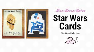 how to make a star wars fathers day card craft for kids youtube