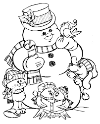 christmas coloring pages snowman learntoride