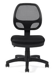 desk chair without arms officestogo otg11642b mesh back task chair armless