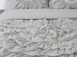 bedding set ruffle duvet stunning grey ruffle bedding best 25