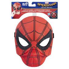 spiderman mask halloween marvel spider man homecoming hero play flip up mask toys