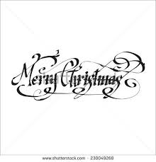 merry christmas vector illustration lettering stock vector