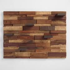 wood pannel mosaic wood panel with shelves world market