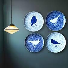 Personality handmade secret garden bird plate ceramics wall