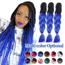 ombre senegalese twists braiding hair marley braid hair two tone purple grey blue black xpression ombre