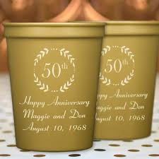 anniversary party cups 16 oz plastic stadium personalized