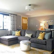 gray living room walls with gray leather sofas contemporary