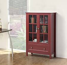kitchen curio cabinets amazon com homestar with 2 door 1 drawer glass cabinet 47 24 x