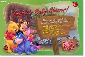 winnie the pooh baby shower invitations winnie the pooh design for your baby shower invitations