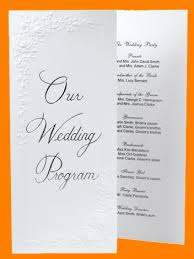 cheap wedding programs 3 free wedding programs outline templates
