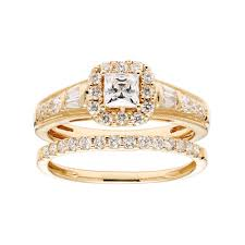 1 carat halo engagement ring gold 1 carat t w igl certified square halo engagement