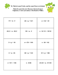 worksheet solving one step equations using addition and