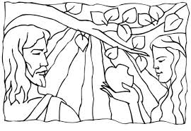 coloring pages adam and eve adam and eve broke commandment of god in garden of eden coloring