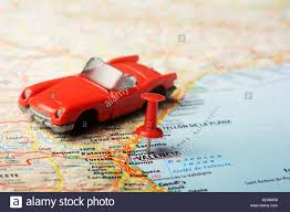 Map Of Valencia Spain by Close Up Of Valencia Spain Map With Red Toy Auto Stock Photo