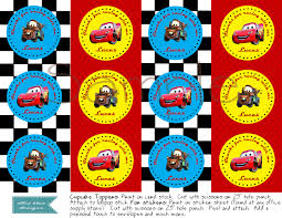 cars cake toppers diy printable disney cars cupcake toppers