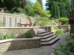terraces and garden walls for a steeply sloped backyard