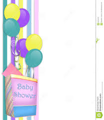 baby shower invitation border royalty free stock image image