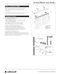 vertical blinds shades installation instructions