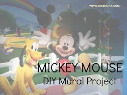 childrens wall mural mickey mouse theme wise nona