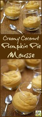 this coconut pumpkin pie mousse recipe is vegan gluten free