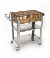 kitchen island cart with stainless steel top butcher block kitchen cart kitchen island on wheels stainless steel