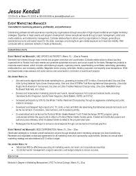 marketing resume format sales and marketing manager resume
