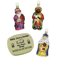 we three bible story inge glas ornament