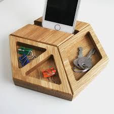 Modern Desk Tidy Solid Oak Modular Geometric Desk Tidy By Wood Paper Scissors