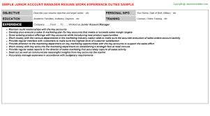 Account Executive Job Description Resume by Junior Account Manager Job Title Docs