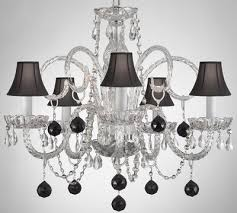 Chandelier With Black Shades 21 Best Black Shade Lighting Images On Pinterest Crystal
