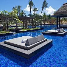 genius in the water pool beds long beach hotel in mauritius by