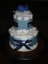 whale themed diaper cake baby shower centerpiece or gift