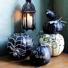 appealing black and white elegant halloween decor interior designs