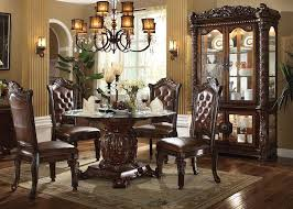 Dining Room Sets With Glass Table Tops Dallas Designer Furniture Vendome Formal Dining Room Set