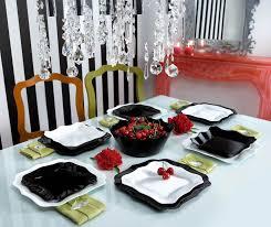 vaisselle de cuisine authentic black white service de vaisselle 19 pièces ma cuisine