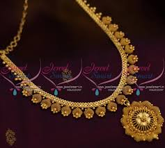 gold short chain necklace images Nl8557 simple attigai design chain necklace gold plated JPG