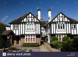 Tudor Style House Houses In Mock Tudor Style In The Suburb Of Finchley London