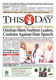 Niger 2017 2018 Bourse Cuba Wednesday 14th June 2017 By Thisday Newspapers Ltd Issuu