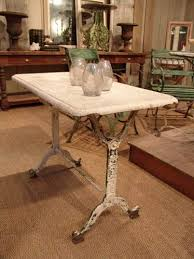 Antique Bistro Table Vintage Bistro Table With Marble Top Sold