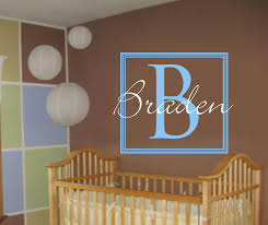 Monogram Wall Decals For Nursery Boy Nursery Ideas Squares Search Baby Jaxson