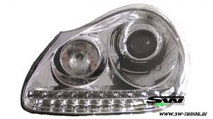 porsche chrome sw light xenon headlights for porsche cayenne i 955 9pa 02 07 led