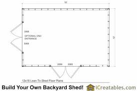 Storage Building Floor Plans 12x18 Lean To Shed Plans 12x16 Storage Shed Plans