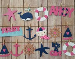 nautical baby shower decorations for home ahoy baby shower etsy