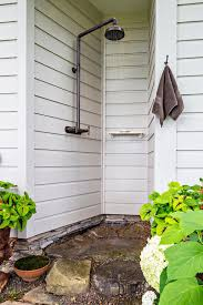 Simple Outdoor Showers - sled base outdoor patio farmhouse with simple outdoor shower