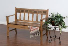 Rustic Oak Bench Rustic Oak Bench With Storage By Sunny Designs Wolf And Gardiner